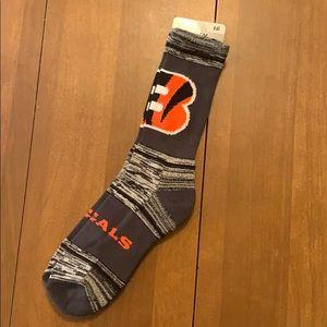 Cincinnati Bengals NFL Apparel Crew Socks Large
